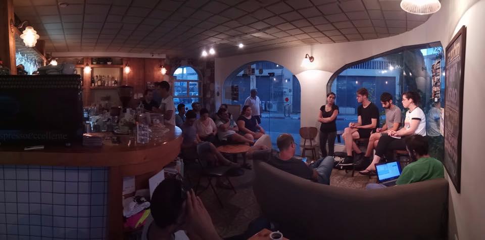 ארגון עובדי קפה נואר בערב הסברה (צילום: ארגון העובדים)